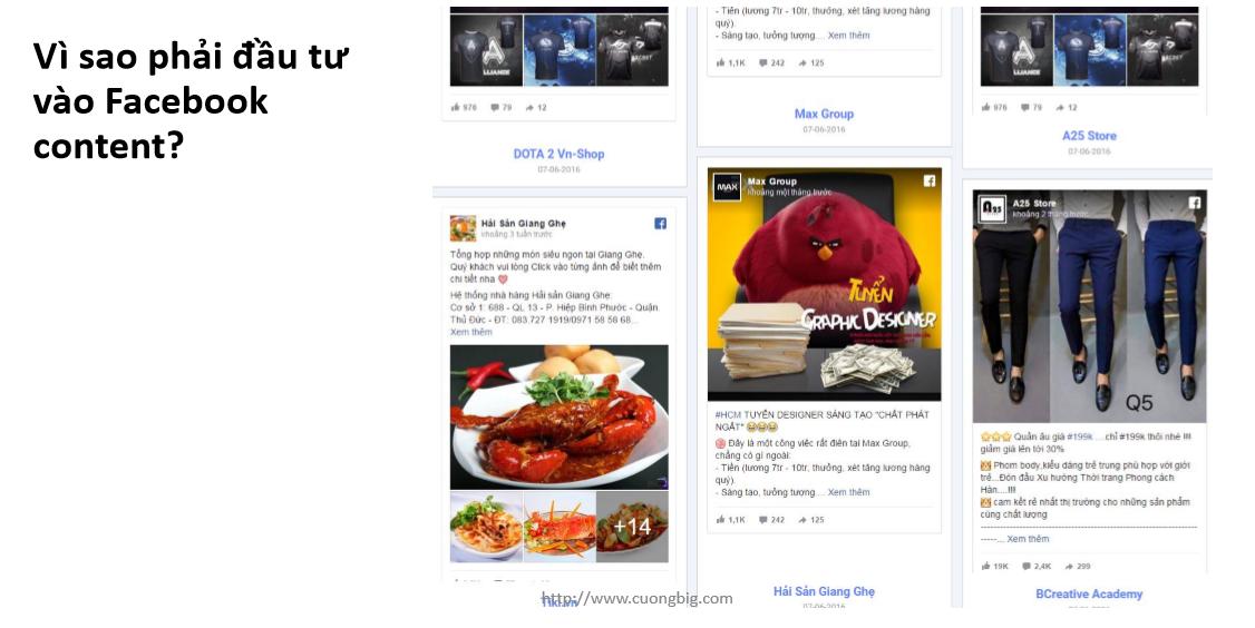 nội dung quảng cáo facebook