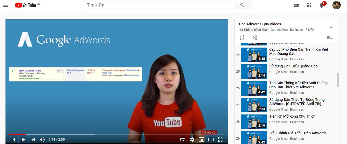học adwords qua video