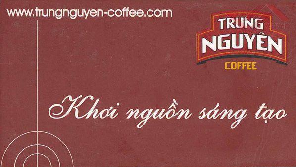 slogan hay về kinh doanh: cà phê Trung Nguyên